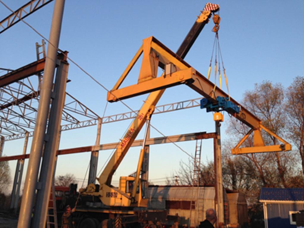 Мостовой однобалочный опорный кран в Краснодарском крае