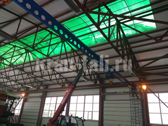 Мостовой однобалочный опорный кран для ООО «Сура-Моторс»