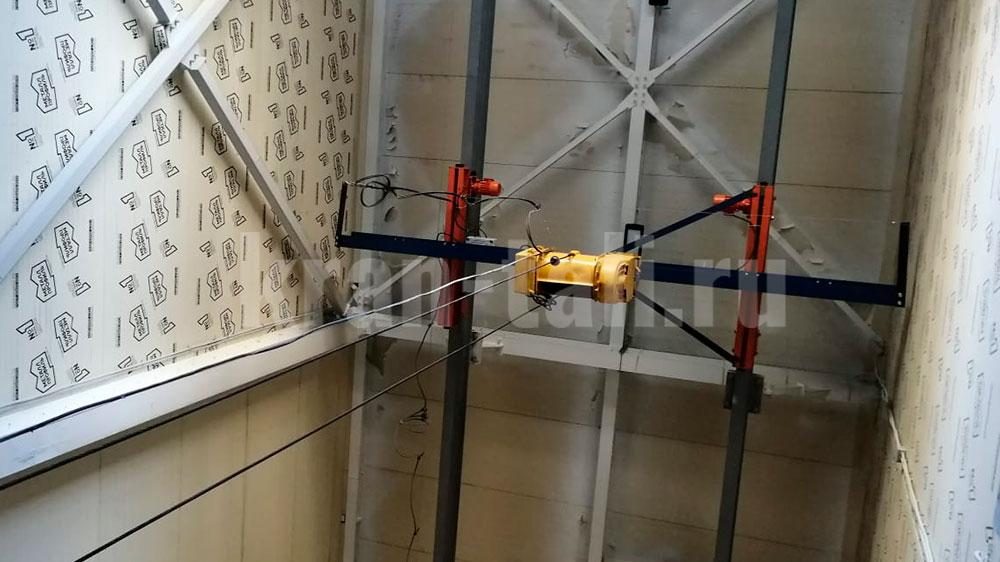 Кран мостовой подвесной однобалочный для омского Водоканала
